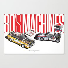 80's Machines Canvas Print