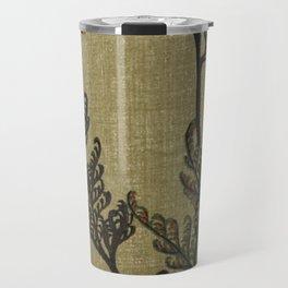 Vintage Curled Leaf Travel Mug