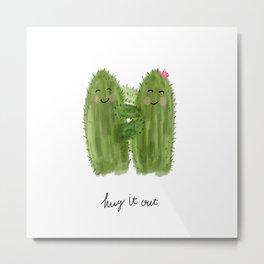 "Cactus "" hug it out "" - cacti art Metal Print"