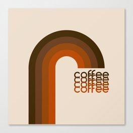 Cocoa Coffee Rainbow Canvas Print