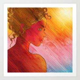 Independent Woman Sunset Art Print