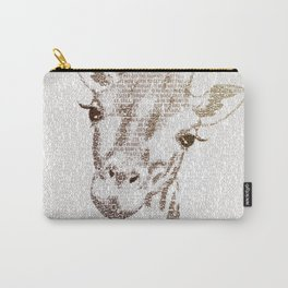 The Intellectual Giraffe Carry-All Pouch