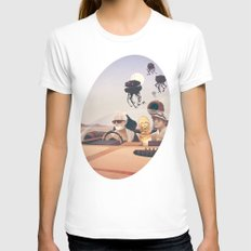 Fear and Loathing on Tatooine MEDIUM Womens Fitted Tee White
