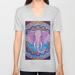 Patience - Elephant mandala Unisex V-Neck