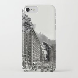 Old Time Godzilla in New York iPhone Case