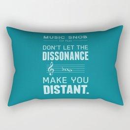 The Dissonance — Music Snob Tip #439 Rectangular Pillow