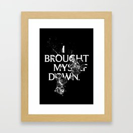 Nixon 01: I Brought Myself Down Framed Art Print