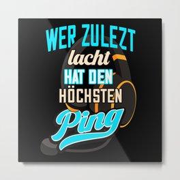 Gamer Nerd Ping Gaming Zocker Metal Print