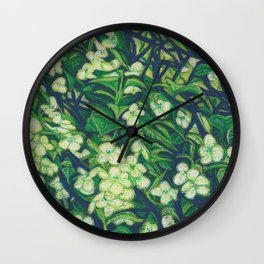 Expressionist Sweet Flowers Wall Clock