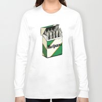 marijuana Long Sleeve T-shirts featuring Mainstream Marijuana by Kelsey Dake