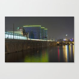 October Night on the BERLIN river Spree Canvas Print