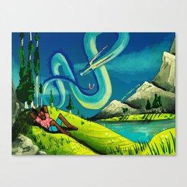 Dragon Nap Canvas Print
