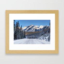 Winter Wonderland - Road in the Canadian Rockies Framed Art Print