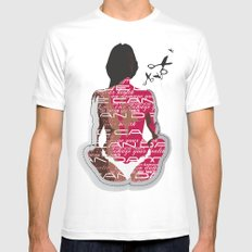 Love can damage your health Mens Fitted Tee White MEDIUM