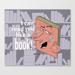 Smart Ass Library Book Canvas Print