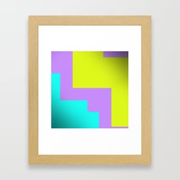 Purple yellow and blue abstract art Framed Art Print