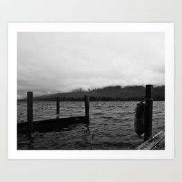 Fog Over the Lake Art Print