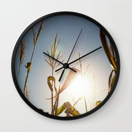 Corn Field 10 Wall Clock