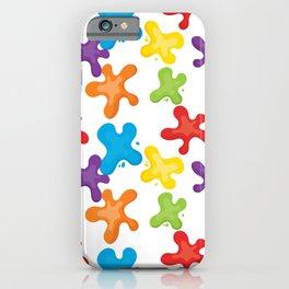 Paint splatters iPhone Case