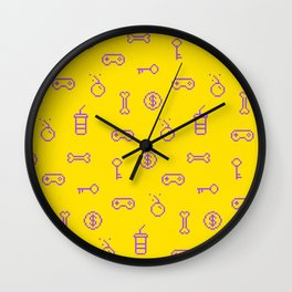 Oldschool gaming inspired design Wall Clock