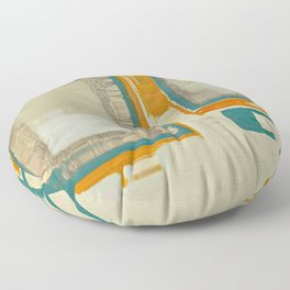 Mid Century Modern Blurred Abstract Best Most Popular Floor Pillow