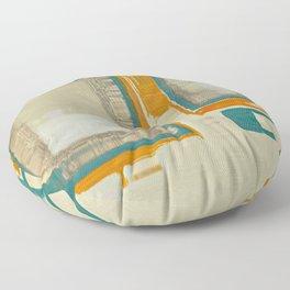 Mid Century Modern Blurred Abstract Art Best Most Popular by Corbin Henry Floor Pillow
