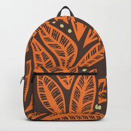Hawaiian Polynesian tropical floral leaf design Backpack