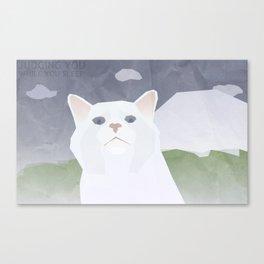 Cat Judge Me Canvas Print
