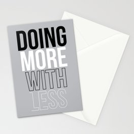 MORE LESS Stationery Cards