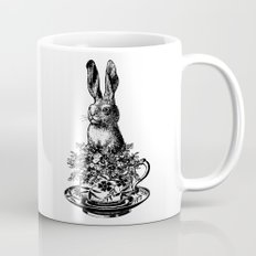 Rabbit in a Teacup | Black and White Mug