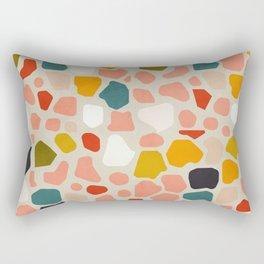 terrazzo mosaic shapes modern Rectangular Pillow