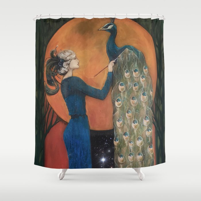 Origin of Inspiration Shower Curtain