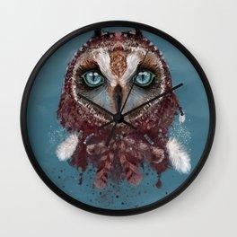 Owl Dream Catcher Wall Clock