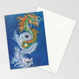 Two Dragons Face Right Stationery Cards