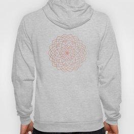 Mandala Floral Geometry Rose Gold on Cream Hoody