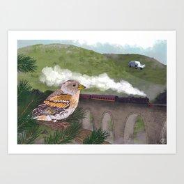 The Flying Car Art Print