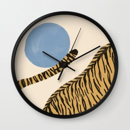 Jumping tigers  Wall Clock
