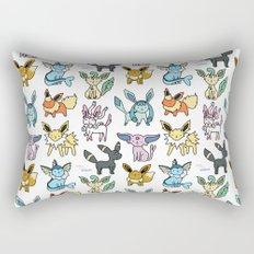 Eeeveelution Doodle Rectangular Pillow