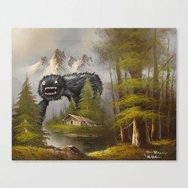 The Dark Smooch Rises Canvas Print