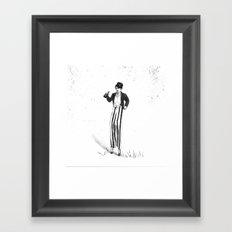 Stilt Walker Framed Art Print
