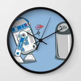 Robot Crush Wall Clock