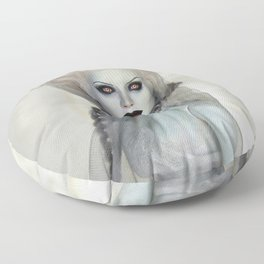Alabaster Ghost Bride Floor Pillow
