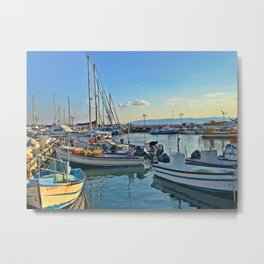 Off the old Acre, or AKKA port, for the old city. Metal Print
