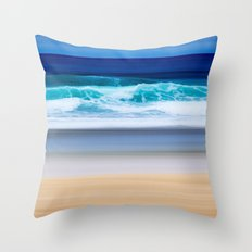 the colors of the Atlantic Ocean Throw Pillow
