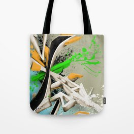 Extra grafitti 3d abstract design Tote Bag