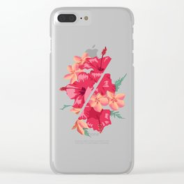 Flowers Out of Sync Clear iPhone Case