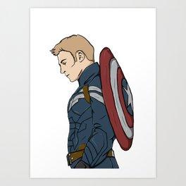 Capt. America Art Print