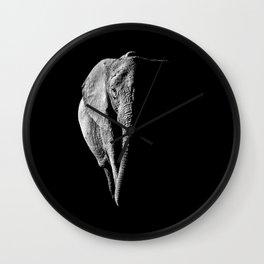 African Elephant Portrait Wall Clock