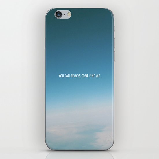 come find me iPhone & iPod Skin