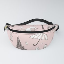 Paris Girl - Pink Fanny Pack